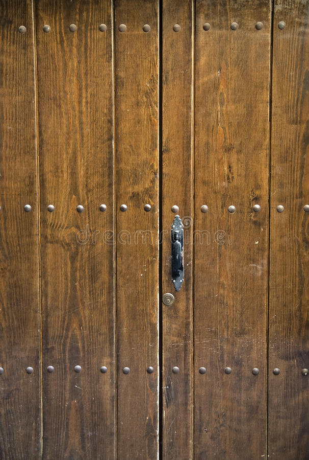 Brown ancient door royalty free stock photography