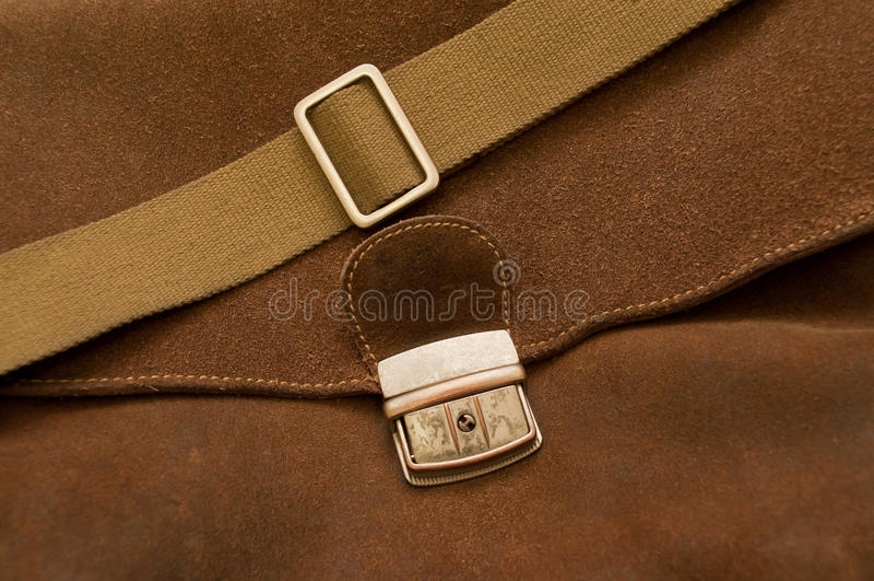 Brown a appuyé le sac en cuir photos stock