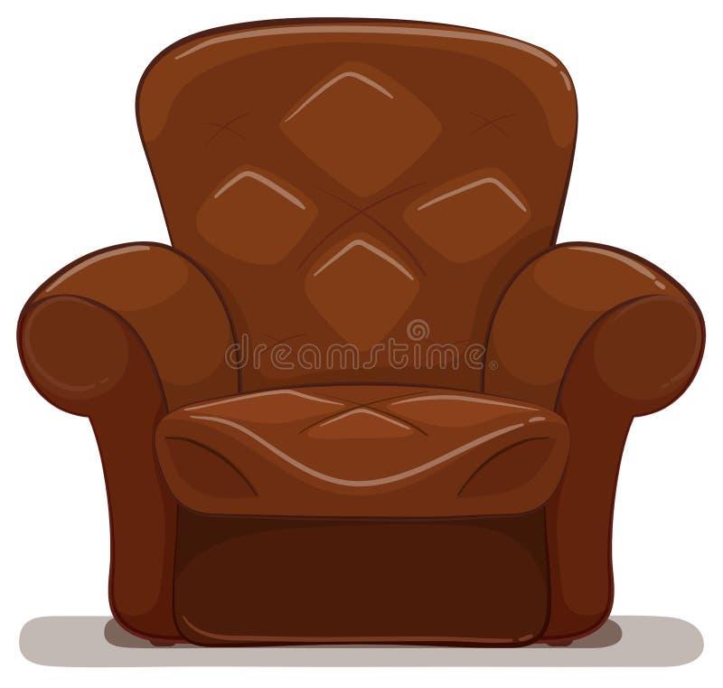 Brown armchair on white background. Illustration stock illustration