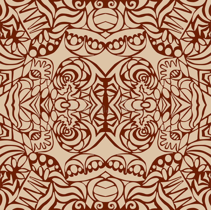 Download Brown Art Deco Seamless Pattern Stock Vector - Image: 21495230