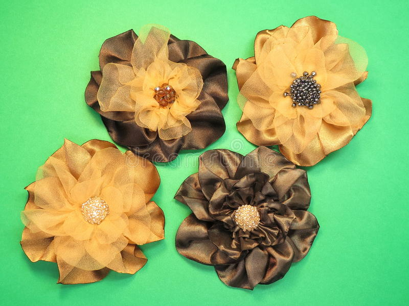 Download Brown Artificial Fabric Flowers Stock Image - Image: 28550259