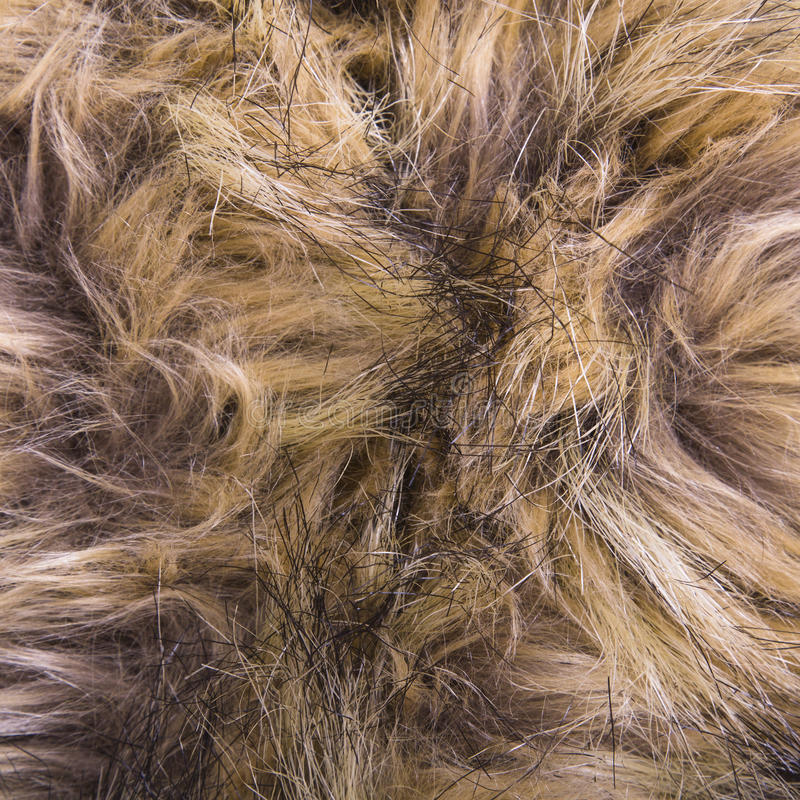 Brown artificial fur texture. For background royalty free stock image