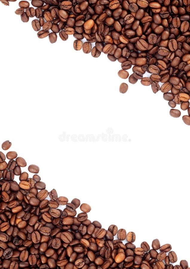 Brown asó los granos de café fotografía de archivo libre de regalías