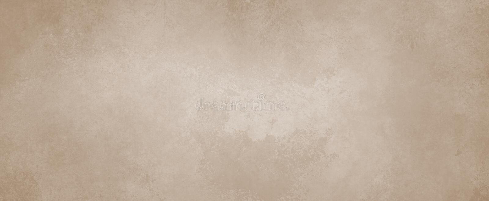 Brown background with distressed vintage grunge borders and pale tan color vector illustration