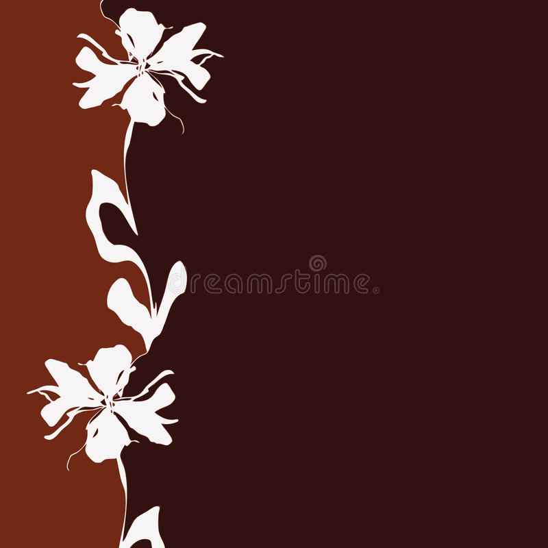 Brown background with flower royalty free illustration