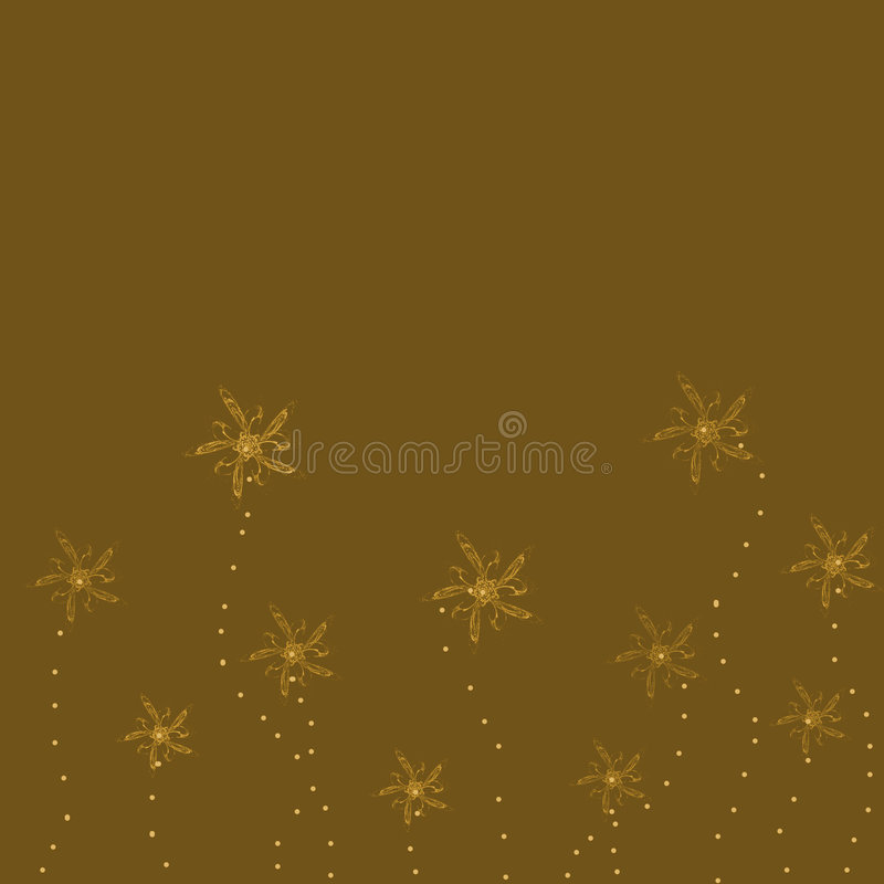 Download Brown Background With Flowers Royalty Free Stock Photography - Image: 1704287