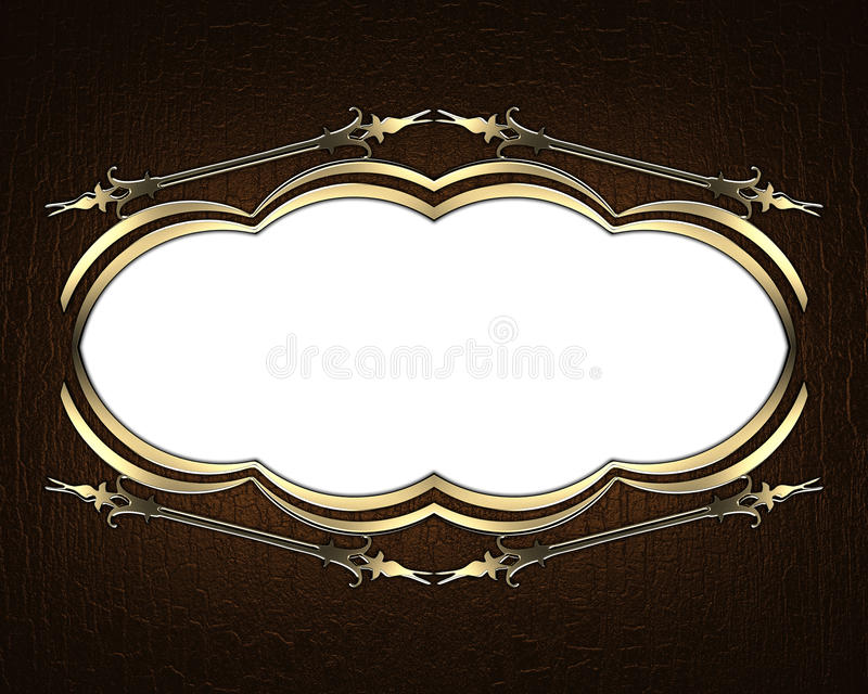 Brown background with frame on white background. Element for design. Template for design. copy space for ad brochure or announceme. Nt invitation, abstract royalty free illustration