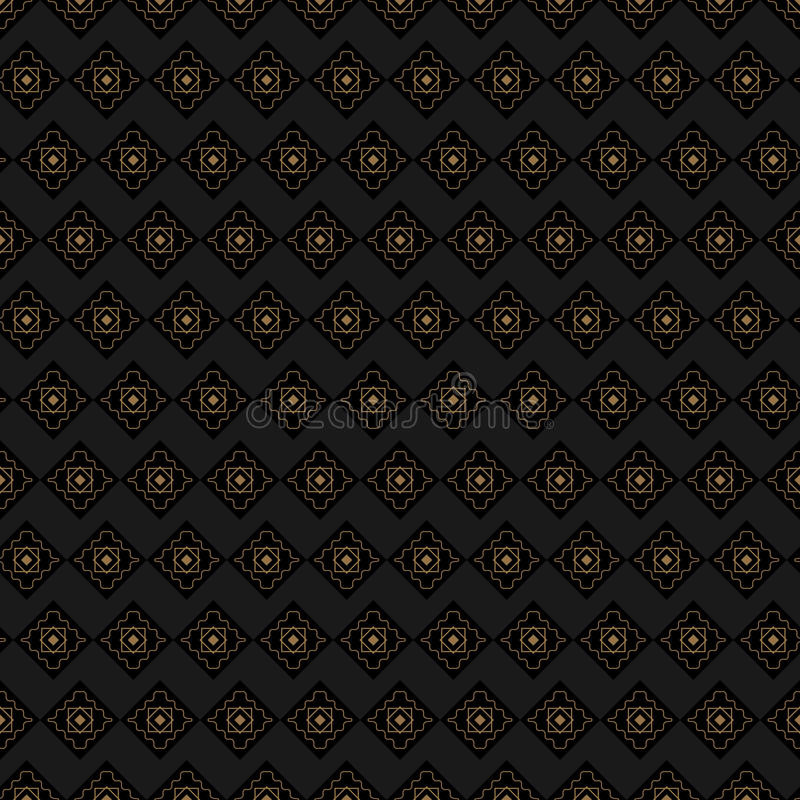 Brown background with gold details repeated royalty free stock photography