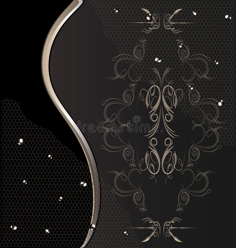 Download Brown Background With Lace And Drops Stock Vector - Illustration of material, drape: 20889252