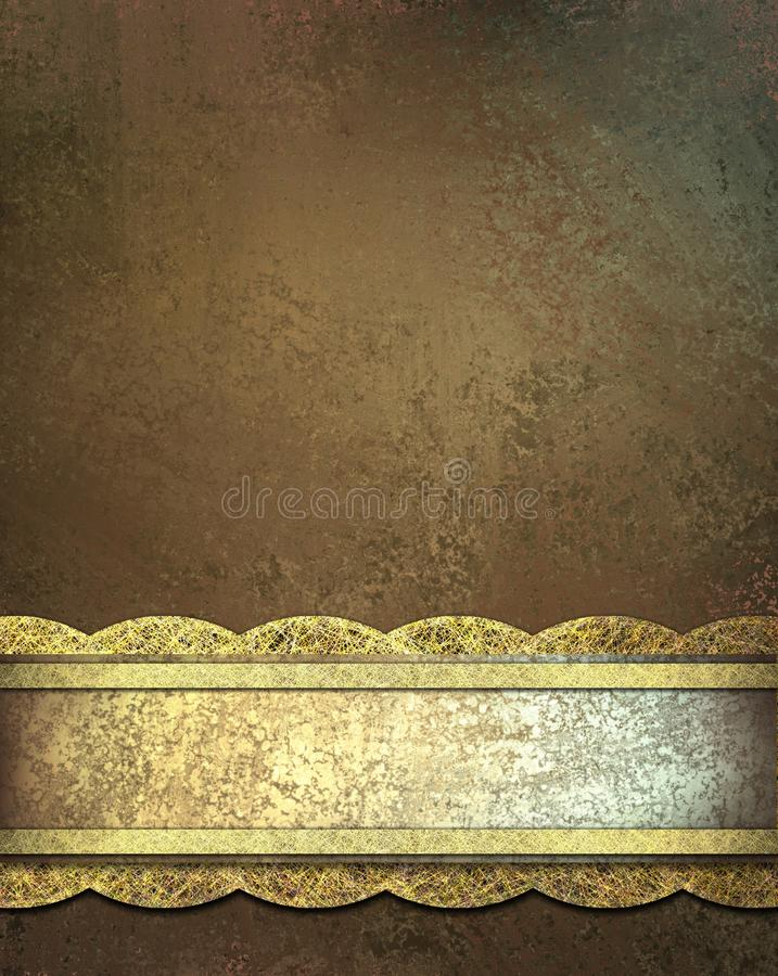Download Brown Background With Ribbon Stock Illustration - Image: 19696361
