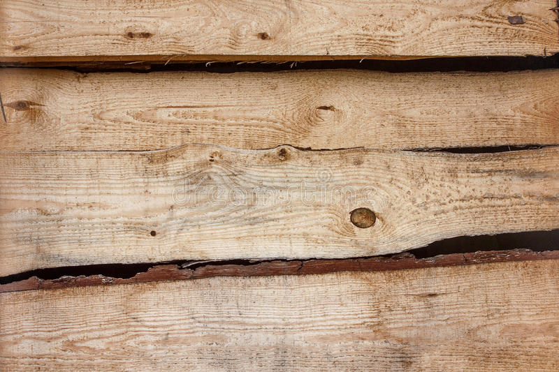 Brown Background Texture Of Horizontal Wooden Planks Bark Stock