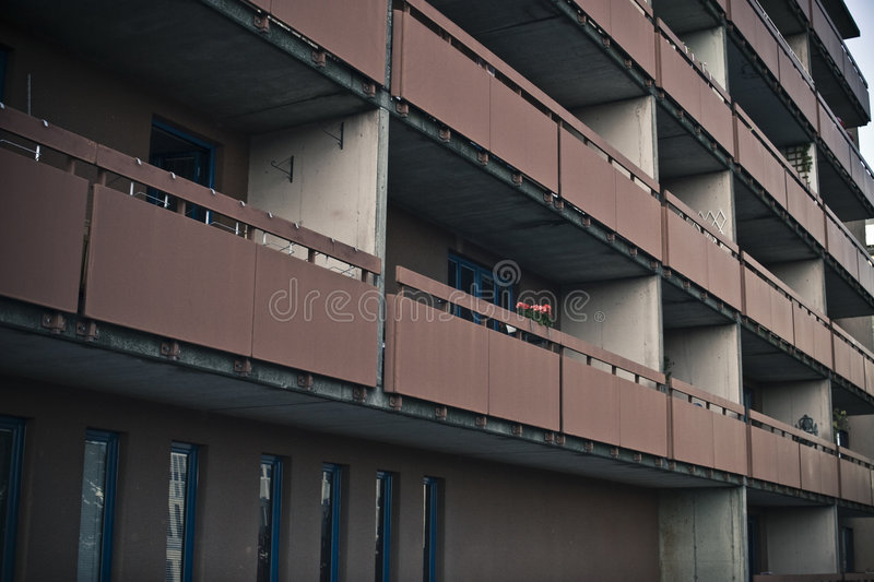 Download Brown balconies stock image. Image of construction, structure - 7159161