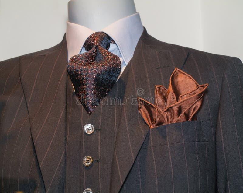 Brown a barré la jupe, relation étroite, mouchoir de Tan photographie stock