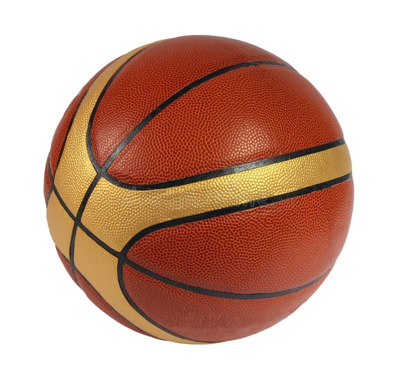 Brown Basket-ball Ball Stock Images