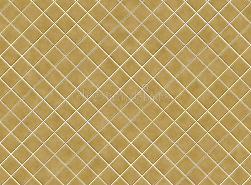 Brown Bathroom Tiles. In Abstract Diagonal Background stock illustration