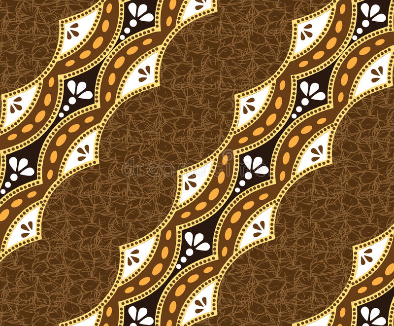 Brown batik piękna fractal tła brown obraz obraz stock