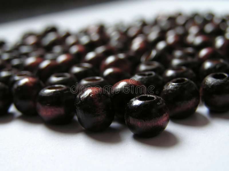 Brown beads royalty free stock image