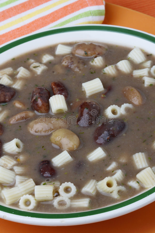 Download Brown Beans Soup With Macaroni Stock Photo - Image: 7962096