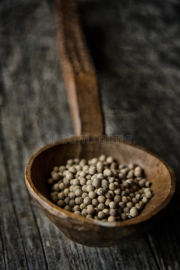 Brown Beans On A Brown Wooden Spoon Free Public Domain Cc0 Image