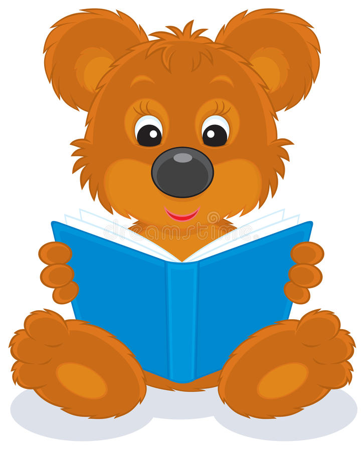 brown bear cub reading a book stock vector illustration of rh dreamstime com bear cub clip art free bear cub mascot clipart