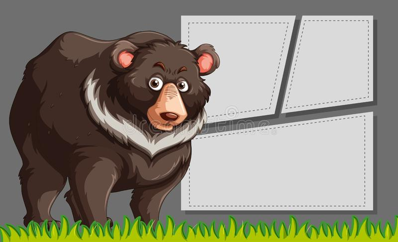 Brown bear frame scene stock illustration