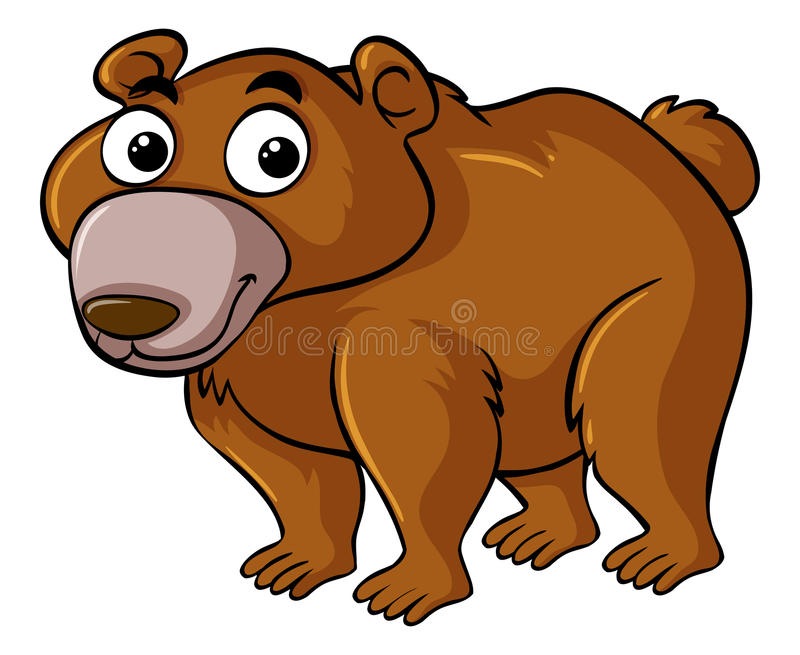 Brown bear with happy face royalty free illustration