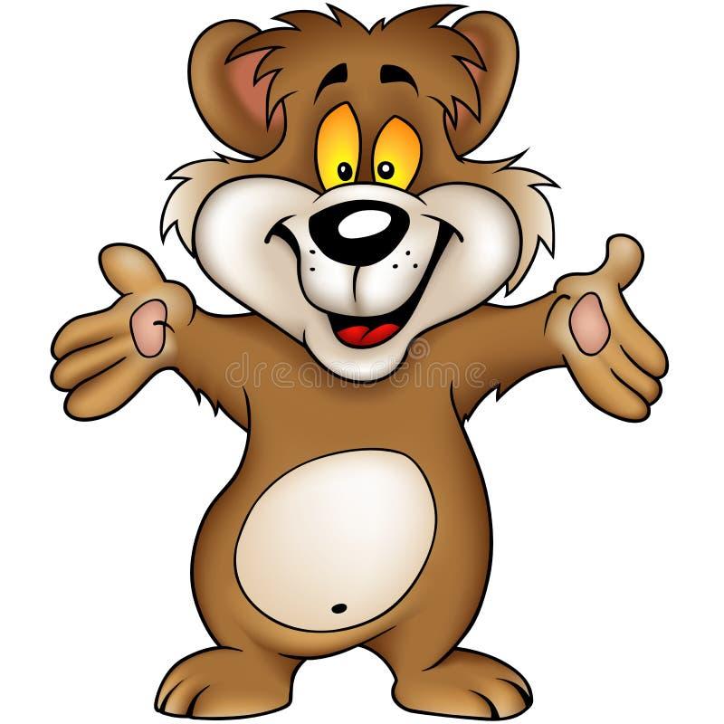 brown bear szczęśliwy royalty ilustracja