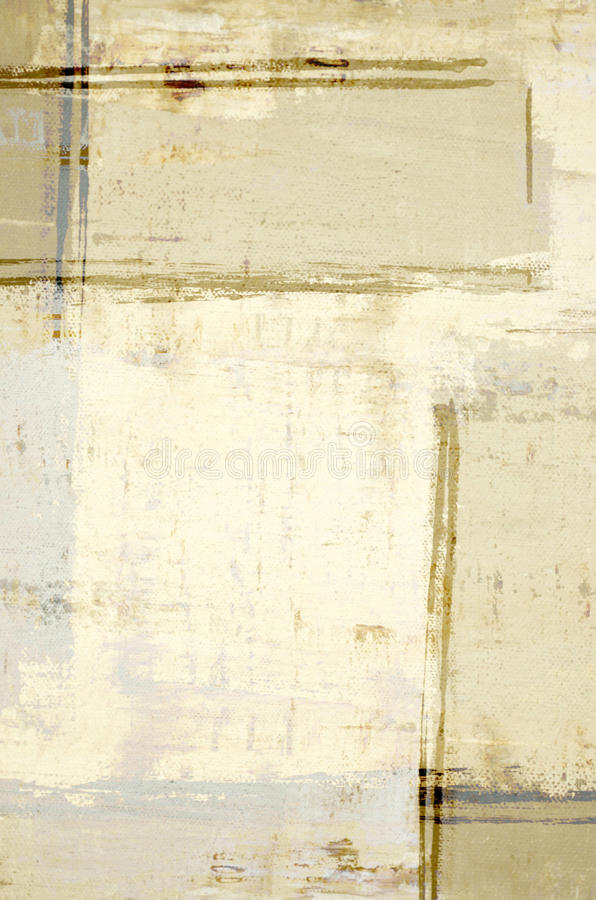 Brown and Beige Abstract Art Painting stock image