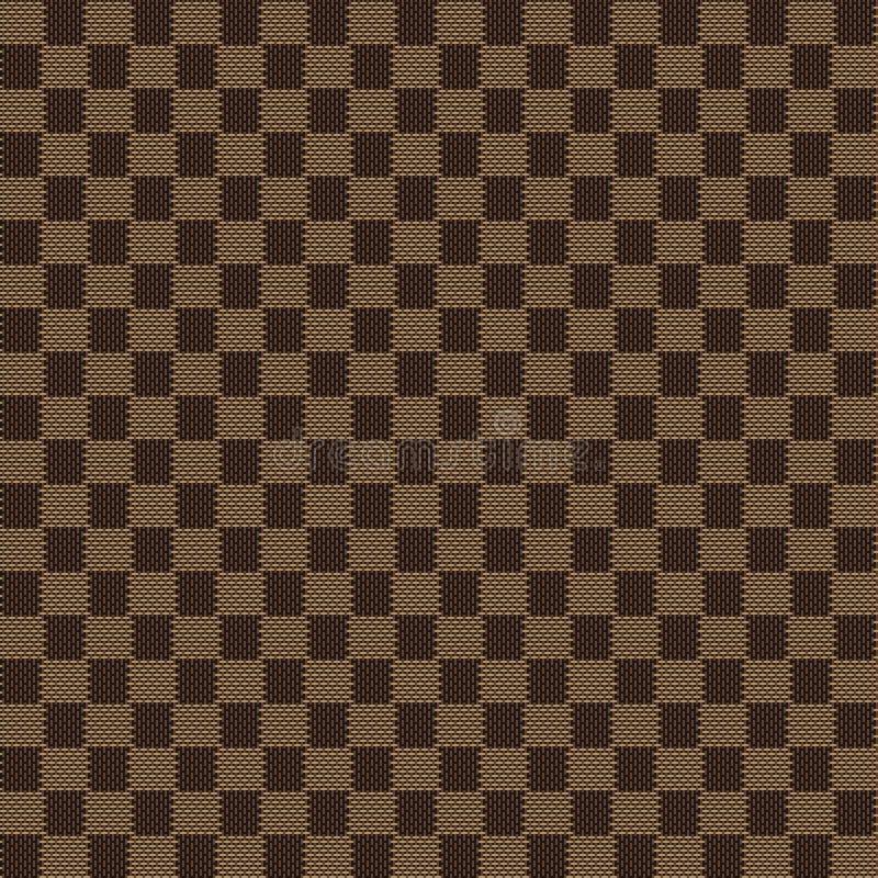 Brown beige seamless fabric texture pattern stock illustration