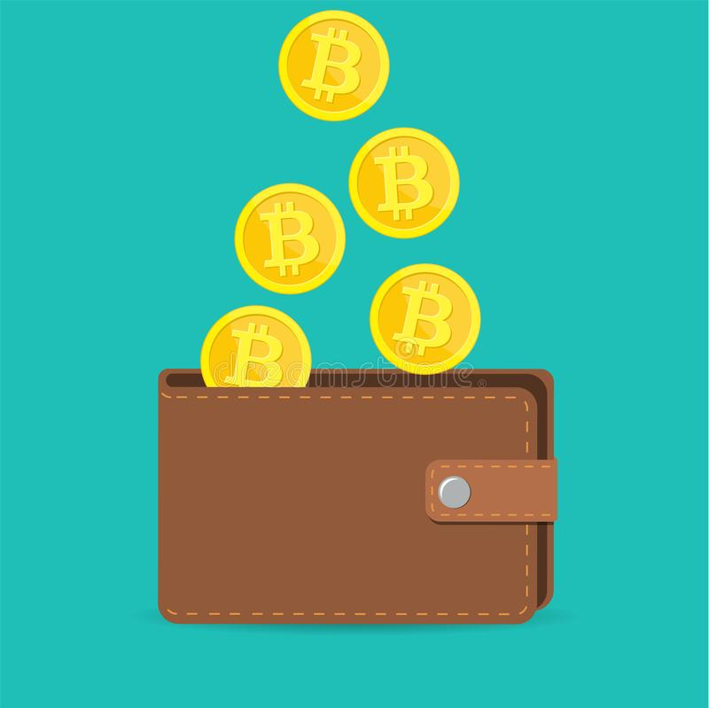 Brown bitcoin wallet with coins stock vector illustration of label download brown bitcoin wallet with coins stock vector illustration of label digital 106664475 ccuart Images