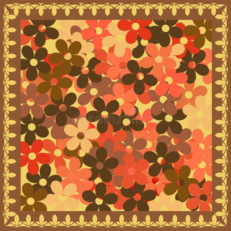 Brown blüht Hintergrund stock abbildung