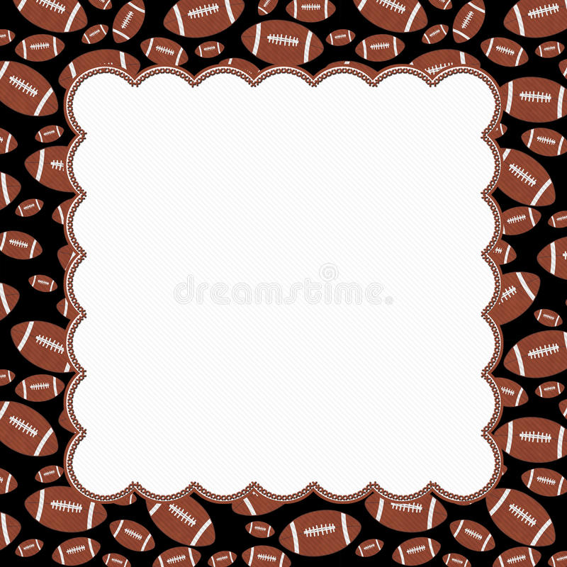 Brown and Black Football Frame Background royalty free illustration