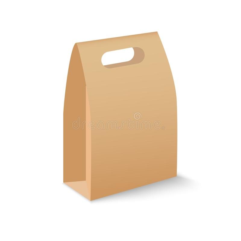 Brown blank cardboard rectangle boxes packaging for sandwich, food, gift, other products mock up. Vector vector illustration