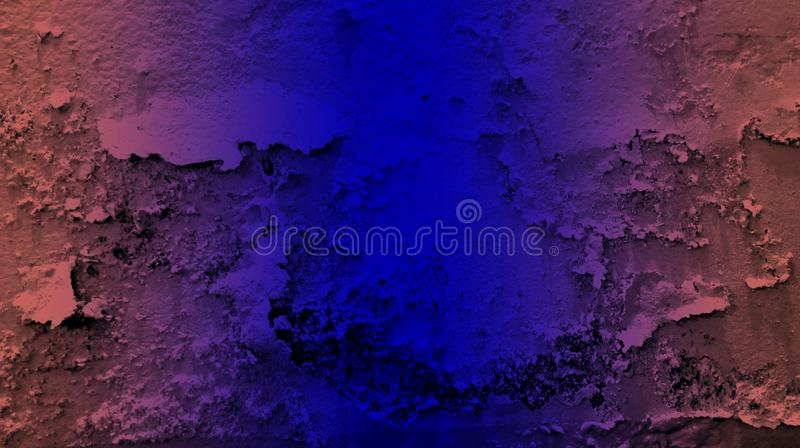Brown blue color effects wall texture background wallpaper. vivid vector illustration. royalty free illustration