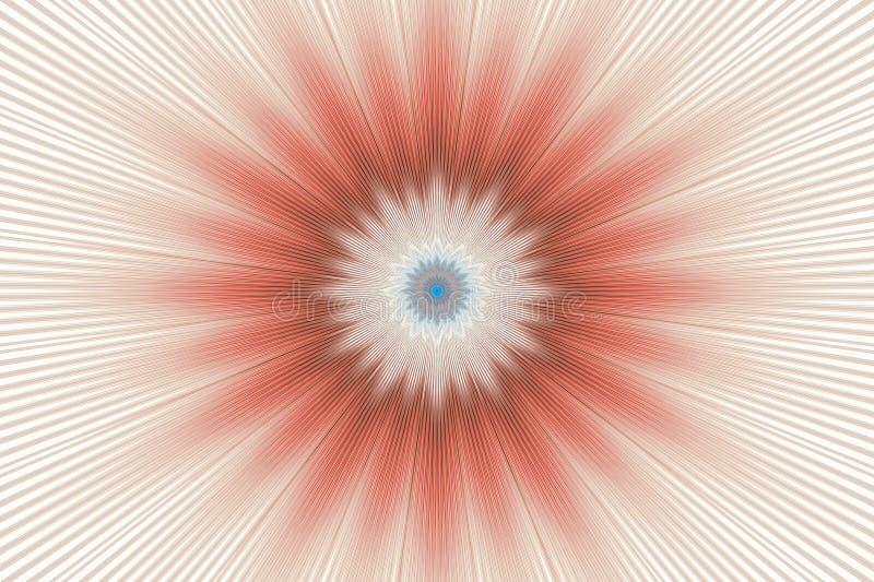 Brown-Blumenmuster-Blumenkaleidoskop kalamkari geometrisch stock abbildung