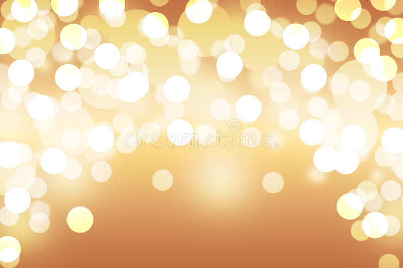 Brown bokeh abstract light background stock illustration