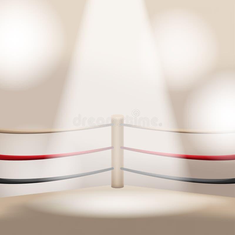 Brown boksu światła sceny Pusty wektor ilustracja wektor