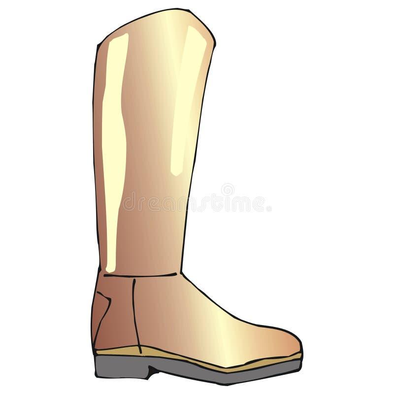 Download Brown boot stock vector. Illustration of figure, elegant - 2322650