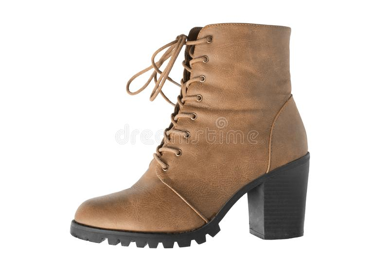 Brown boot isolated stock photography