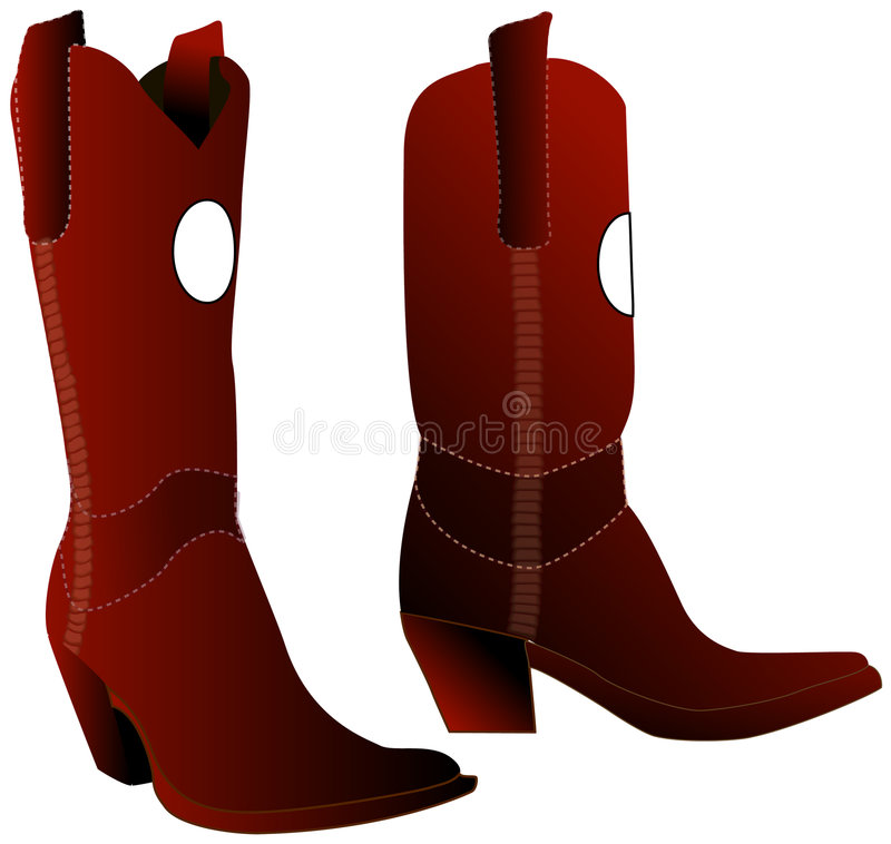 Download Brown Boots stock illustration. Image of women, cowgirl - 8492827