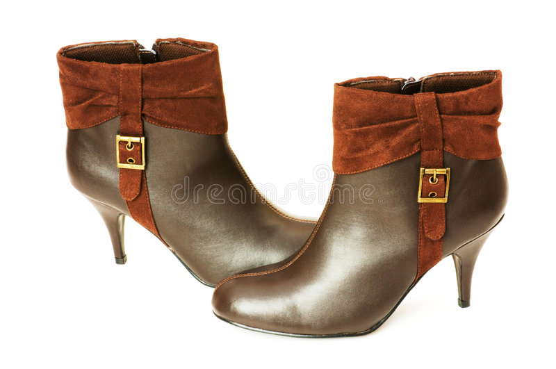 Download Brown boots isolated stock image. Image of heeled, woman - 7026977