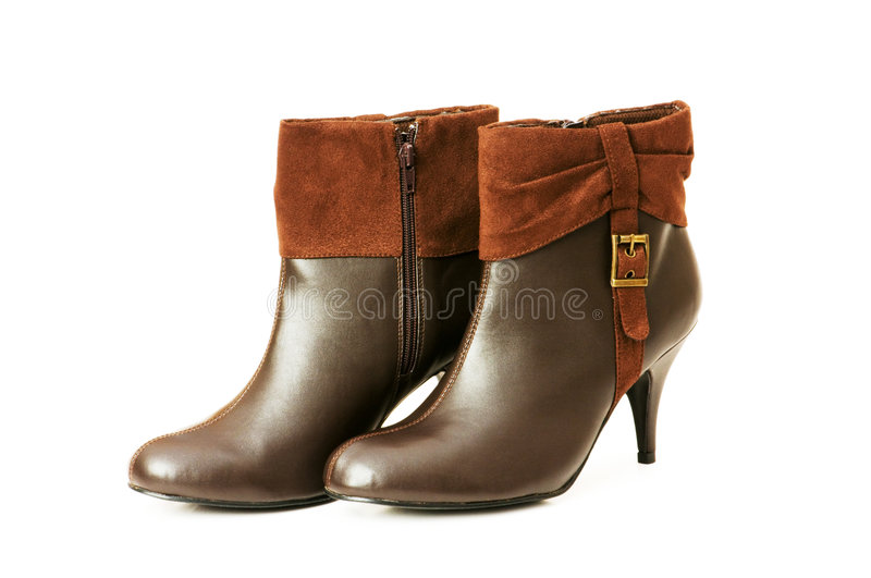 Download Brown boots isolated stock image. Image of isolated, winter - 7113167