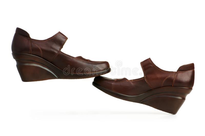 Download Brown Boots Isolated On The White Stock Photo - Image: 12578914