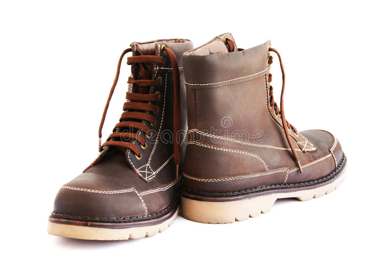 Brown boots stock photography