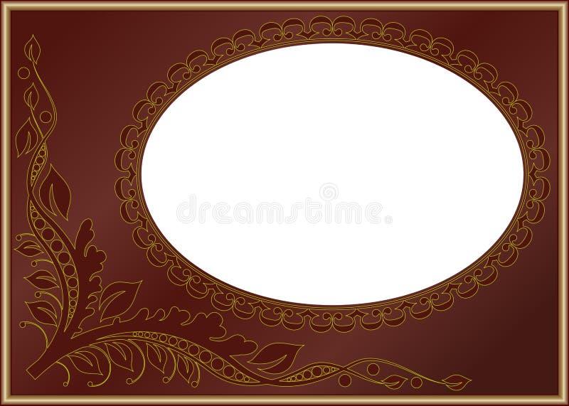 Download Brown border stock vector. Illustration of symbol, foliage - 22373854