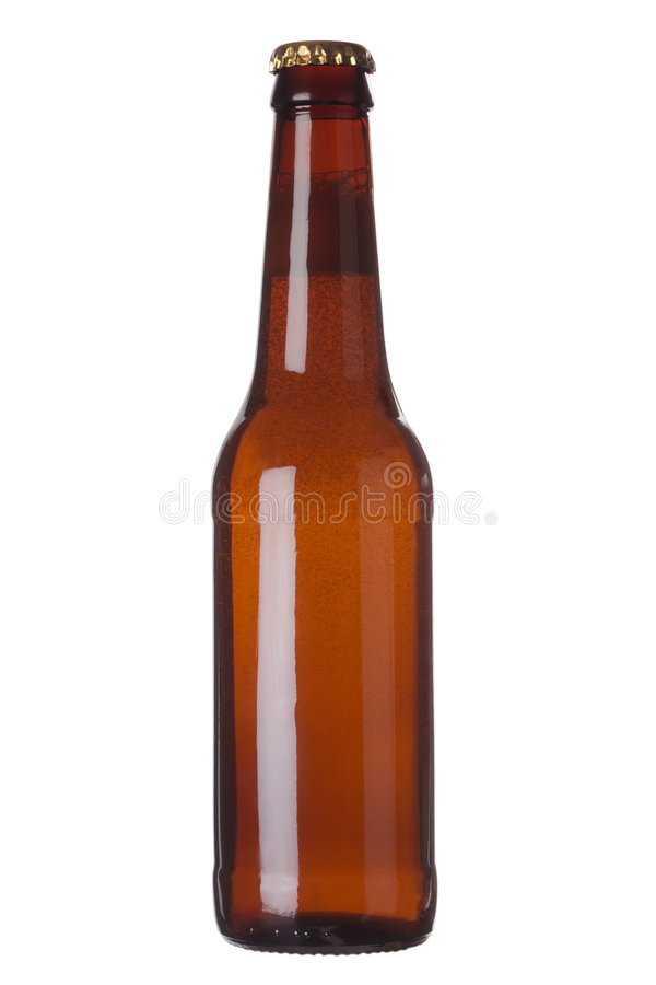 Brown bottle with liquid royalty free stock images