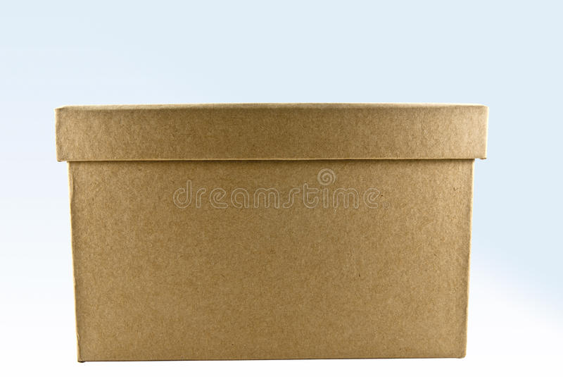 Brown box. On shade background stock photography