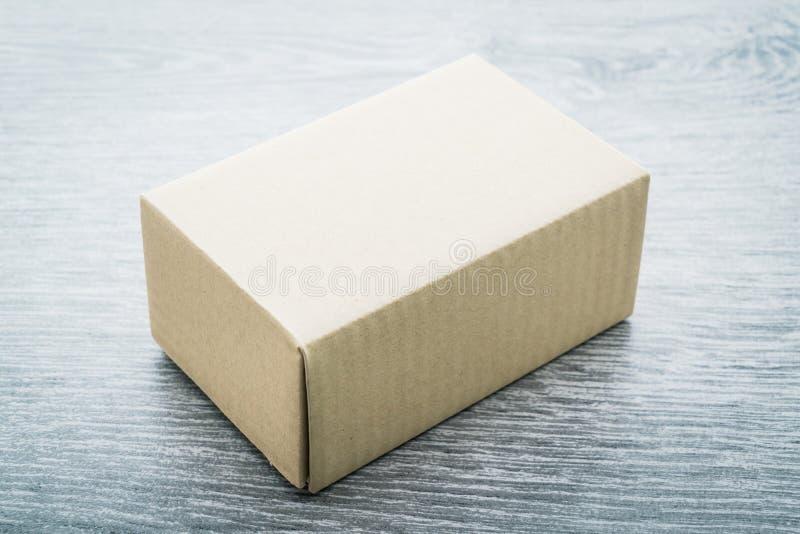 Brown box mock up royalty free stock photo
