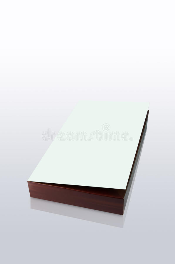 Brown box and with a white lid. Isolated on a White Background stock image