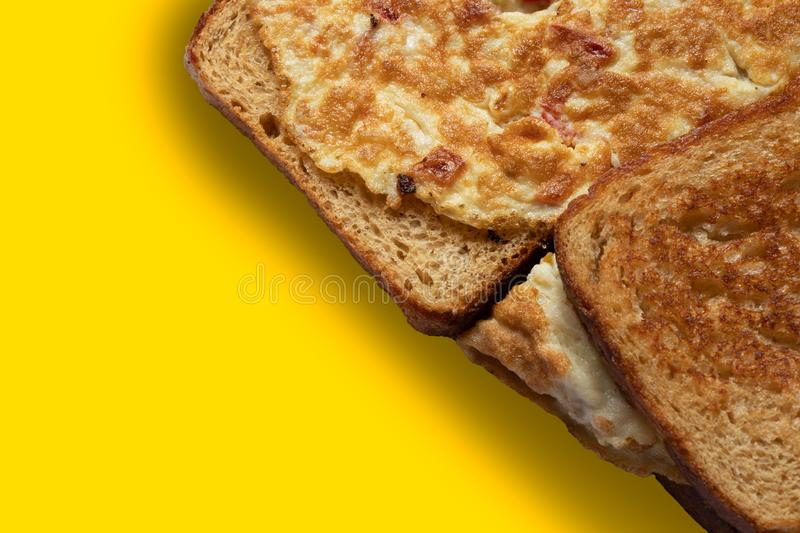 Brown Bread Omelette Sandwich royalty free stock photography